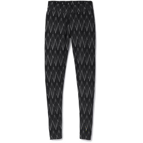 Smartwool Merino 250 Baselayer Pattern Bottom Women Black-Charcoal Heather